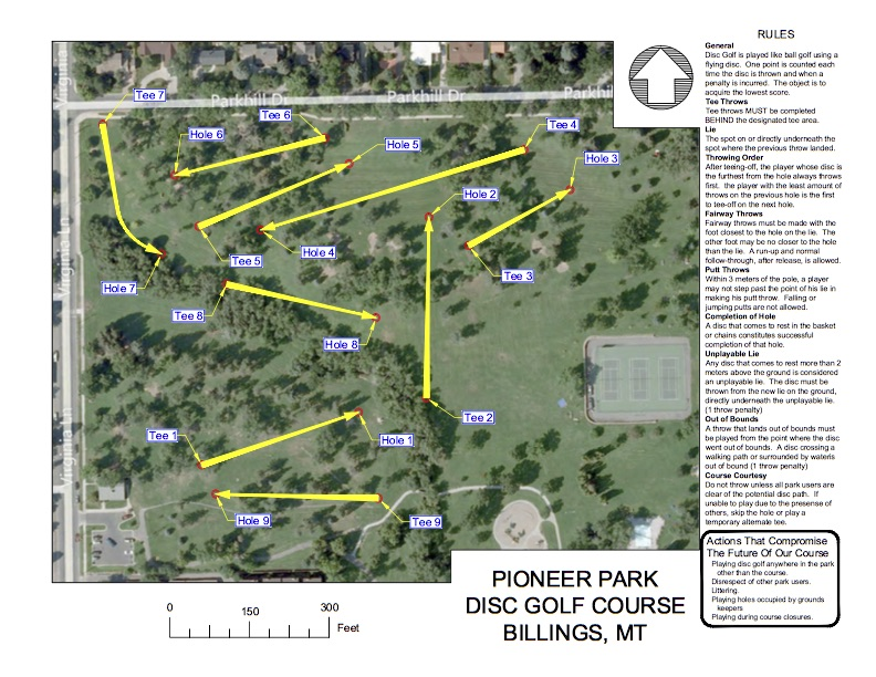 Summer Disc Course Map