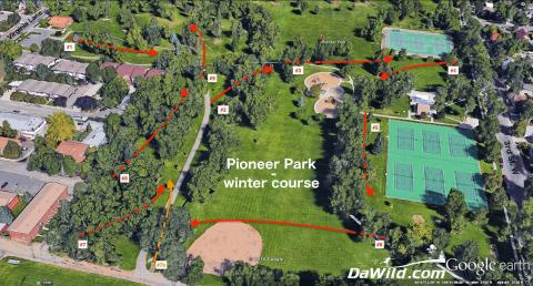 Winter Disc Course Map